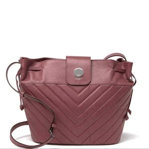 NWT Lodis Quilted Drawstring Purse